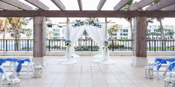 pearl patio draped bamboo archway