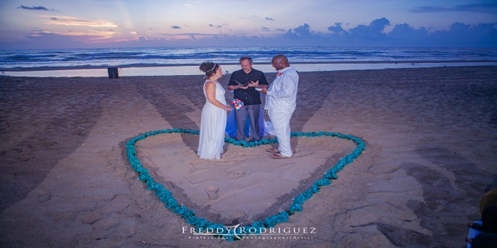turquoise heart in the sand 2